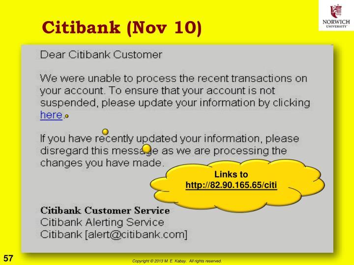 Citibank (Nov 10)