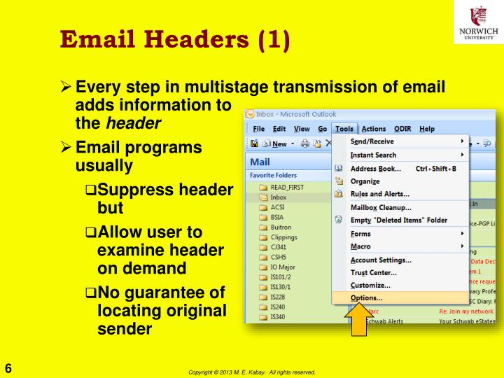 Email Headers (1)