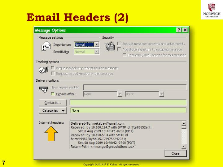 Email Headers (2)