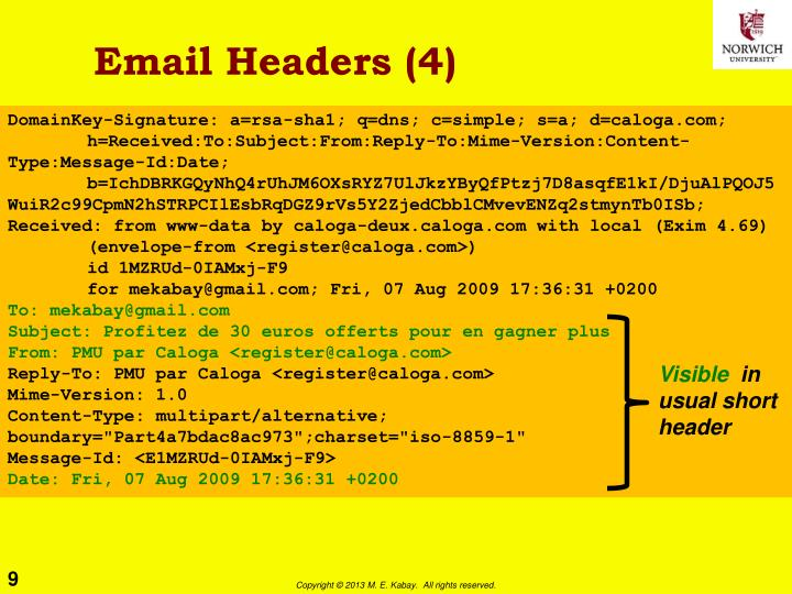 Email Headers (4)