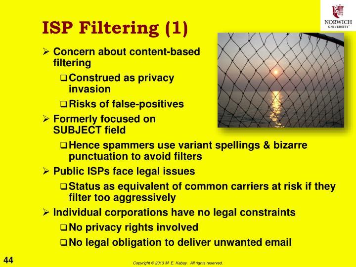 ISP Filtering (1)