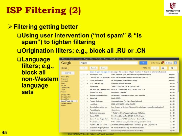 ISP Filtering