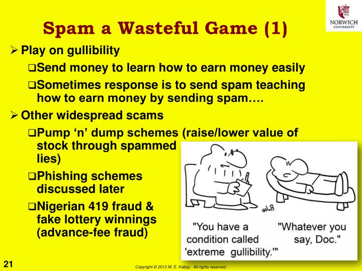Spam a Wasteful Game (1)
