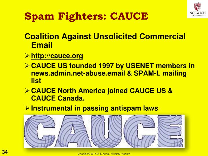Spam Fighters: CAUCE