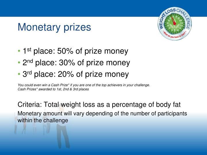 Monetary prizes