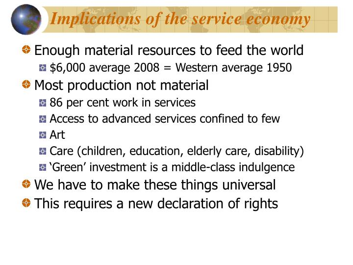 Implications of the service economy