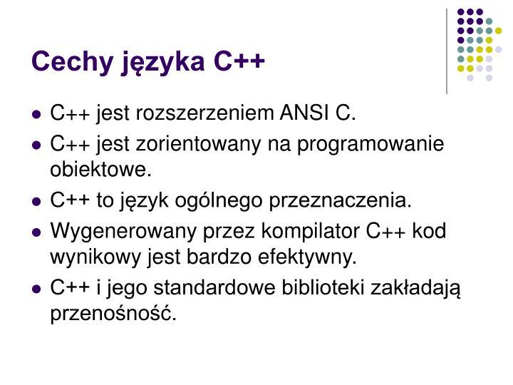 Cechy języka C++
