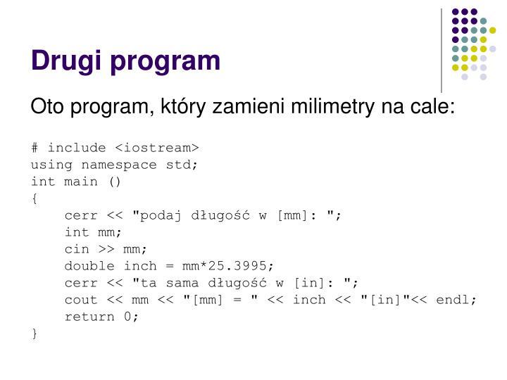 Drugi program