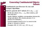 generating combinatorial objects subsets
