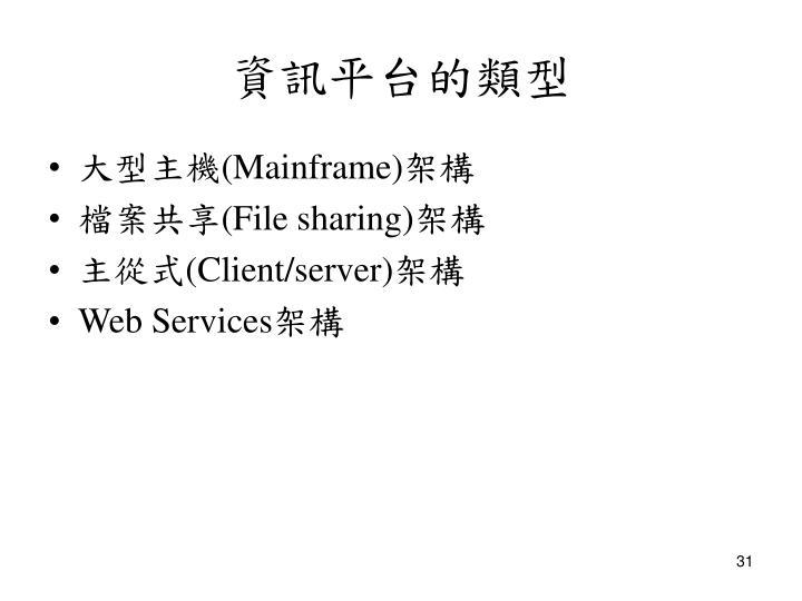 資訊平台的類型