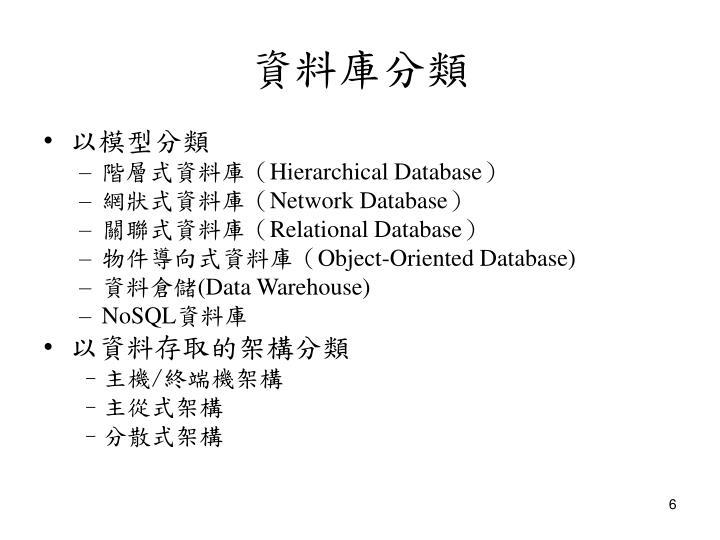 資料庫分類
