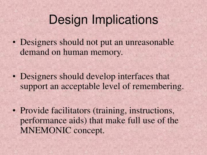 Design Implications