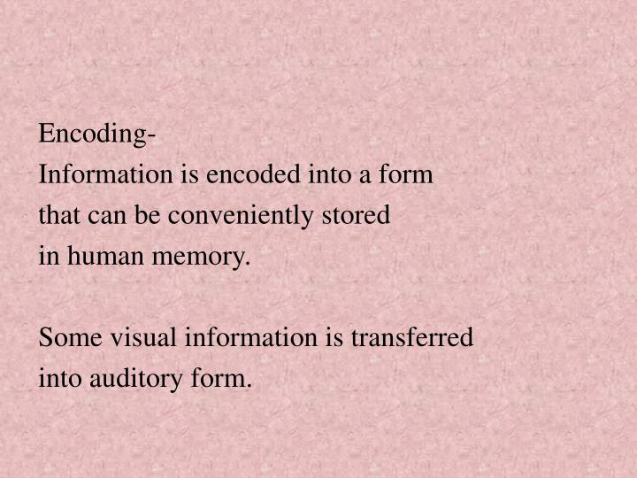 Encoding-