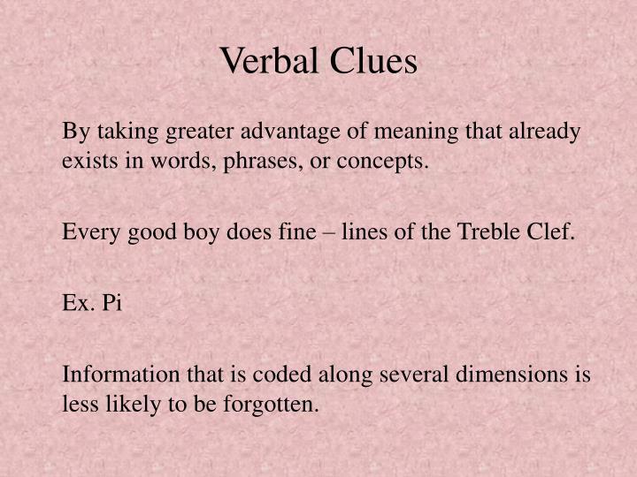 Verbal Clues