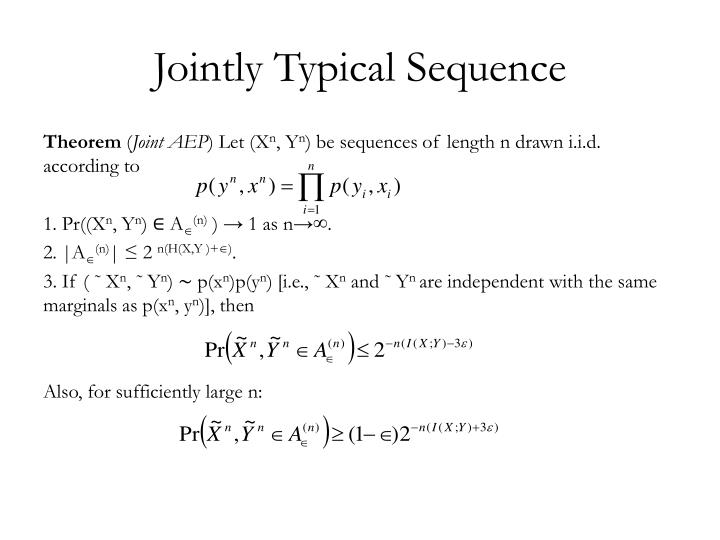 Jointly Typical Sequence