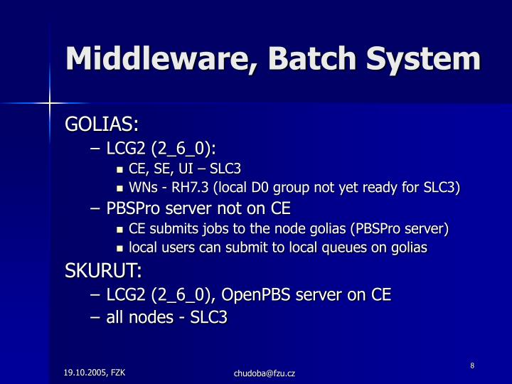 Middleware, Batch System