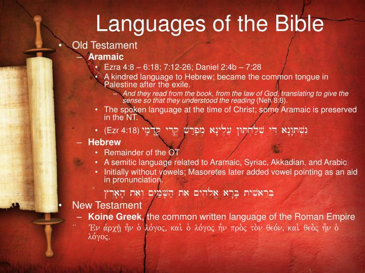 Languages of the Bible