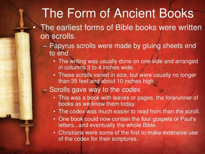 The Form of Ancient Books