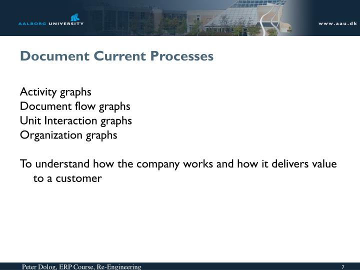 Document Current Processes