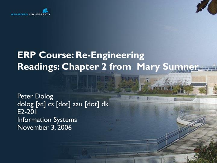 erp course re engineering readings chapter 2 from mary sumner