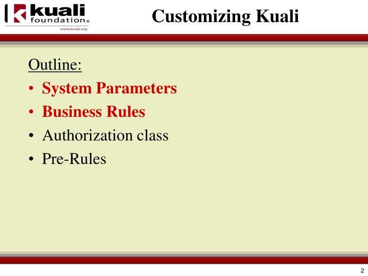 Customizing Kuali