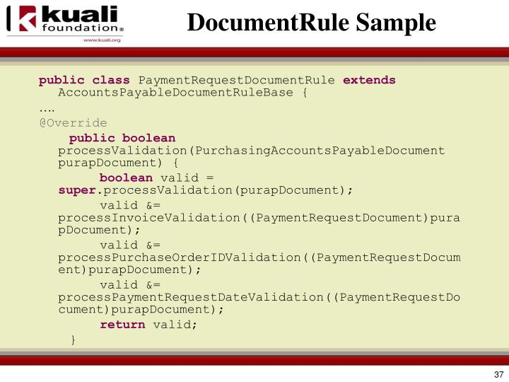 DocumentRule Sample