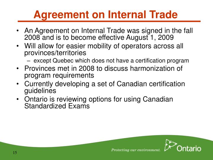 Agreement on Internal Trade