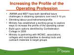 increasing the profile of the operating profession