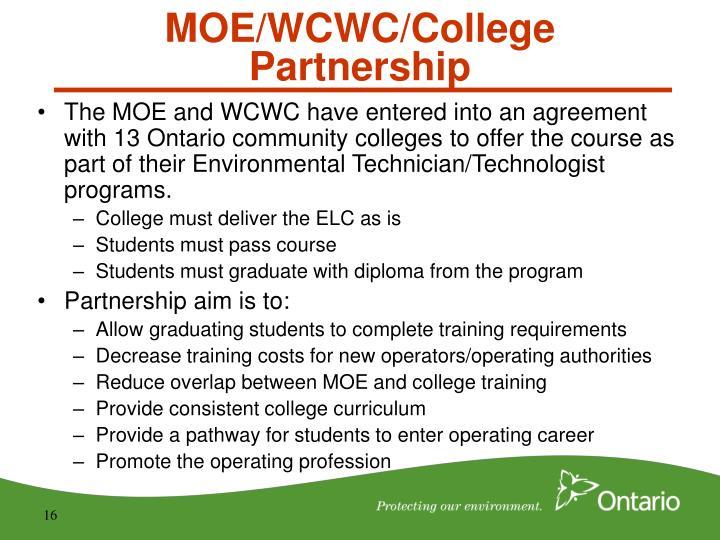 MOE/WCWC/College Partnership
