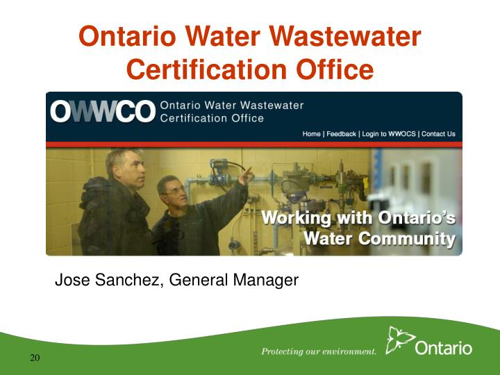 Ontario Water Wastewater Certification Office