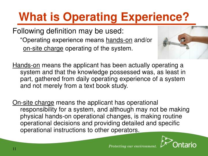 What is Operating Experience?