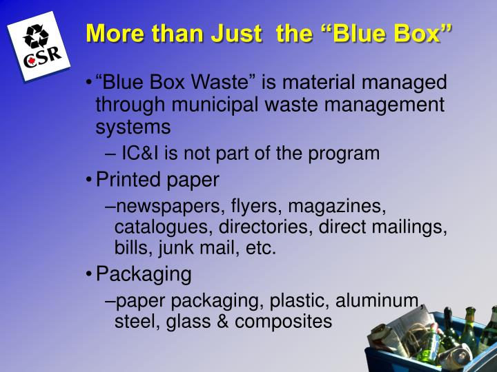 "More than Just  the ""Blue Box"""