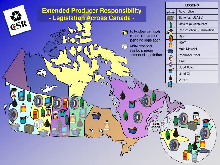 Extended Producer Responsibility  - Legislation Across Canada -