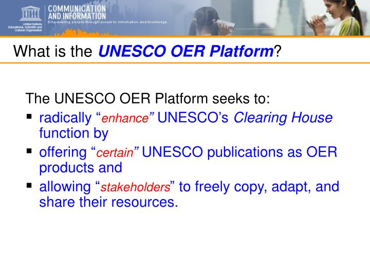 What is the unesco oer platform