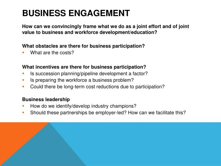 Business engagement