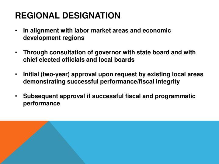 Regional designation