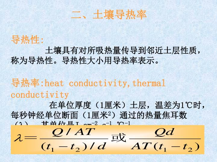 二、土壤导热率
