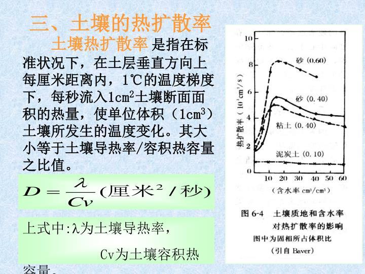三、土壤的热扩散率