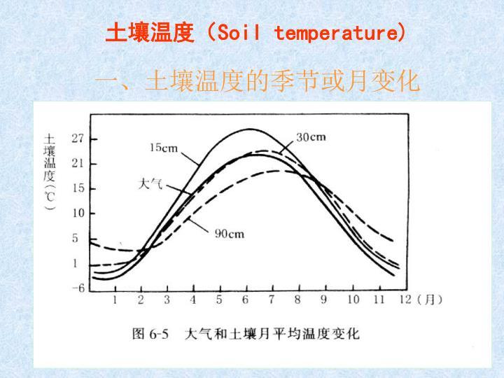 土壤温度(