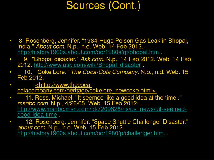 Sources (Cont.)