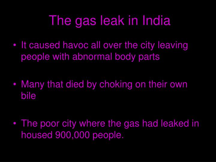 The gas leak in India