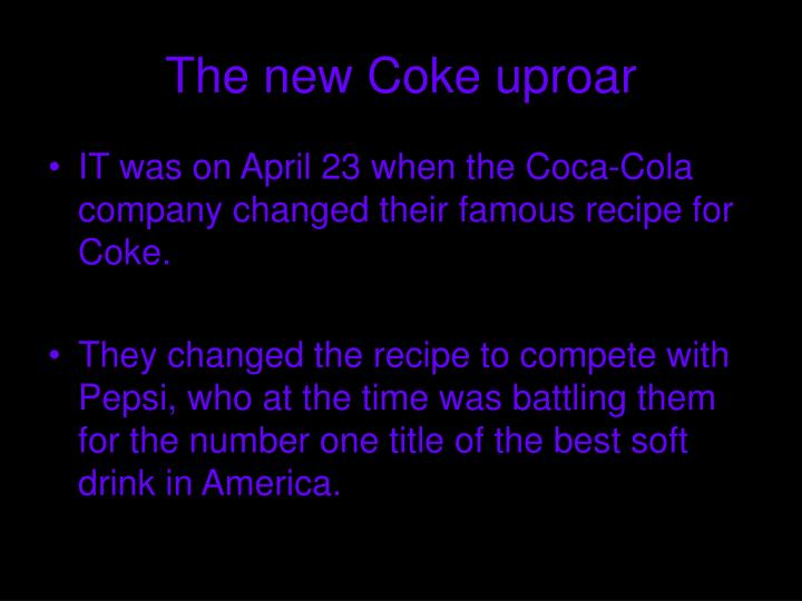 The new Coke uproar