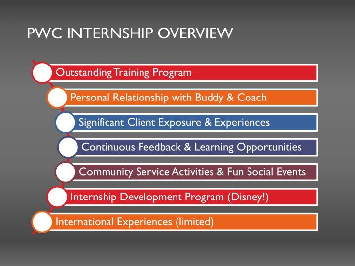 PWC Internship overview