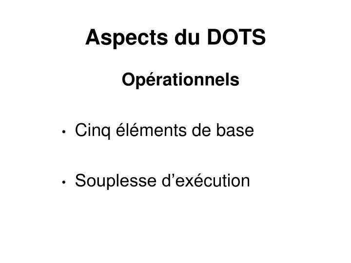 Aspects du DOTS