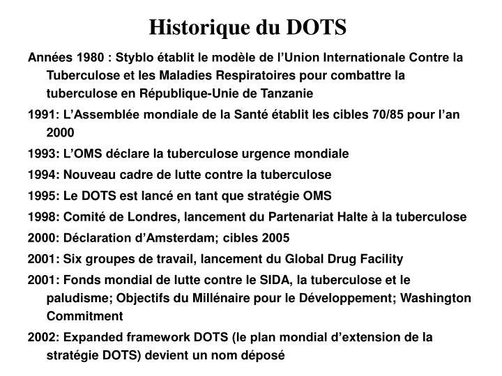 Historique du DOTS