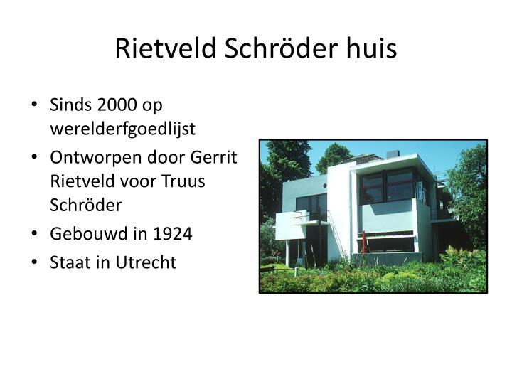 Rietveld Schröder huis