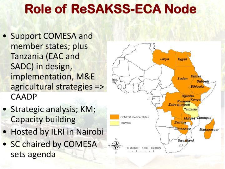 Role of ReSAKSS-ECA Node