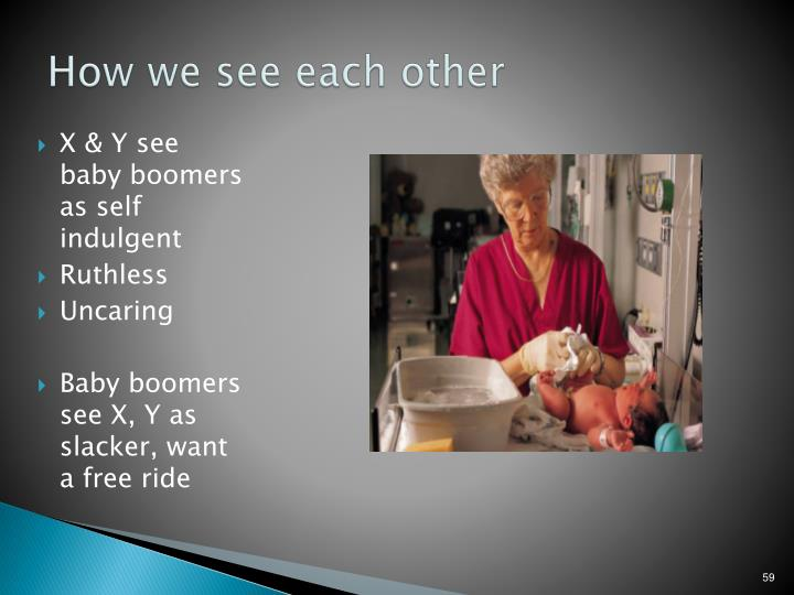 How we see each other
