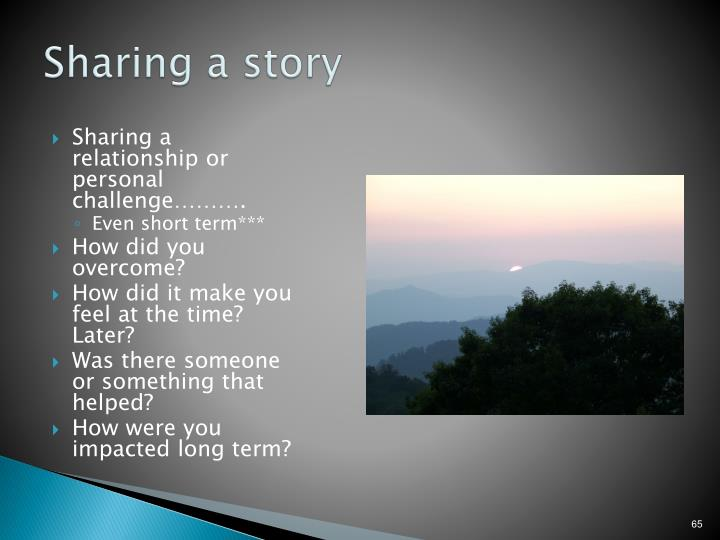 Sharing a story