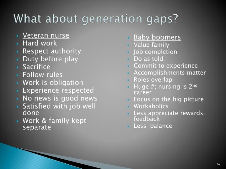 What about generation gaps?